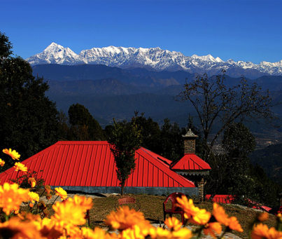 himalaya view from garden