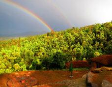 rainbow in kausani