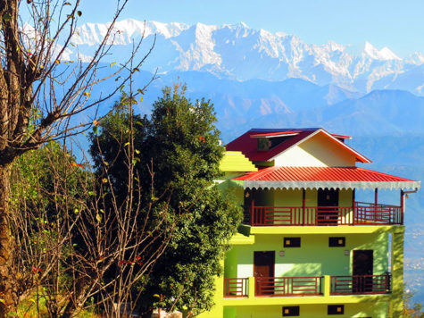 Himalaya view from resort
